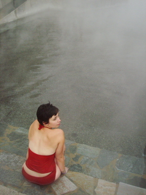 Relaxing in the mineral pools at Lava Hot Springs