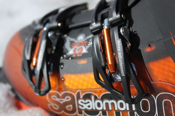 Huge buckles make the Salomon Quest easy to use with gloves on.