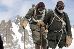 "Video still from the movie, ""The Wildest Dream: Conquest of Everest."""