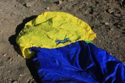 The ultra large (and Ultralight) cowl on the Brooks-Range Ultralight Alpini Bivy Sack