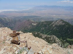 The view from the top of Deseret Peak.