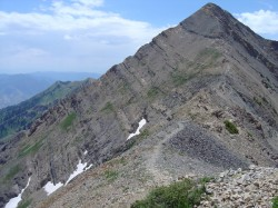 Mount Nebo: the tallest peak in the Wasatch Mountains of Utah.