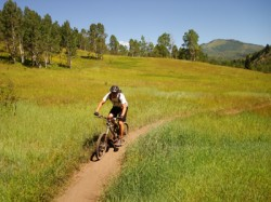 Mountain biking on the Deer Creek South Fork Trail. Rider: Matt Walker.