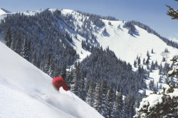 A skier at Park City. Image courtesy Park City Mountain Resort.