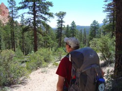 Hiker Skip Whitman enjoys the view in Bryce's backcountry.