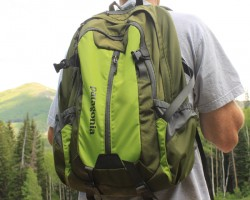 The Patagonia Refugio Pack in action in the Wasatch Mountains.