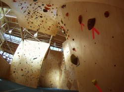 "Climbers in ""The Pit"" at the new The Front location in Ogden."