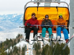 The new Orange Bubble Express at Canyons on opening day. Photo: Mike Stoner. Image courtesy Canyons.