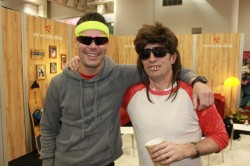 Party time at the Ryders Eyewear booth at the 2011 Outdoor Retailer Winter Market.