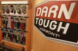 The Outdoor Retailer booth at Darn Tough Vermont