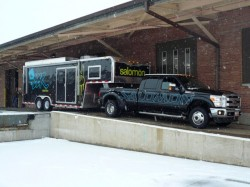 Looks like a party train to me! The Salomon BBR trailer on tour.
