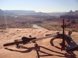 Overlooking the Colorado River from the top of the Amasa Back Trail