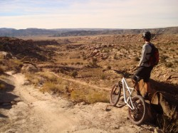 A high point of the Sovereign Singletrack mountain bike trail overlooking the Willow Springs area.