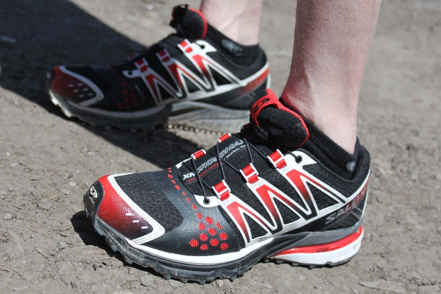 The Salomon XR Crossmax shoes on the streets of Salt Lake City.