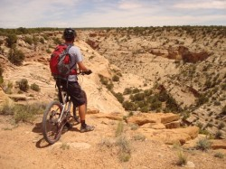 Stopping for the view is a frequent problem on the Good Water Rim Trail, as it make a long ride even longer.