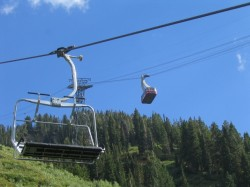 Ski chair and Tram summer operations at Snowbird.