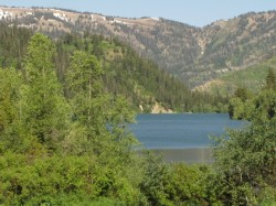 Upper Palisades Lake in the Caribou-Targhee National Forest.
