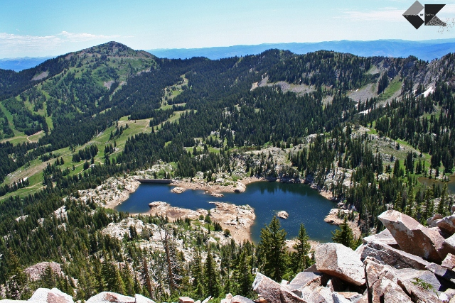 Bagging the peak gets you outstanding views of the Brighton Lakes area.