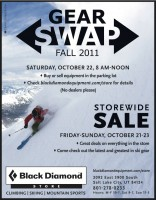 Black Diamond Gear Swap 2011.