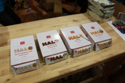 The ProBar Halo line at the 2011 Outdoor Retailer Summer Market.