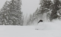 Justin Lozier slays the pow at Alta. (Photo: Jared Hargrave - UtahOutside.com)