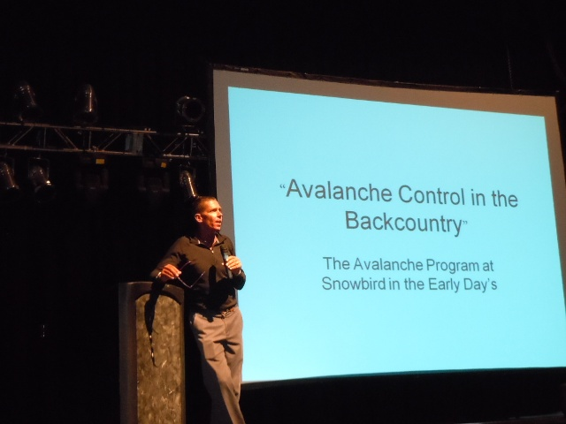 Utah Avalanche Forecaster, Craig Gordon, presents at the 2010 Utah Snow and Avalanche Workshop. Image courtesy Utah Avalanche Center.