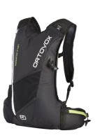 Ortovox Momentum 12 Light running and biking pack in black.