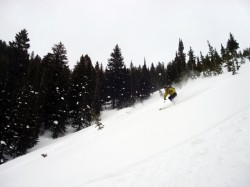 Ski fresh powder at a Snowbird Sidecountry Camp. (Photo: Jared Hargrave - UtahOutside.com)