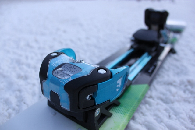 The Salomon Guardian 16 has a beefy toe piece with a DIN of 16. (Photo: Jared Hargrave - UtahOutside.com)