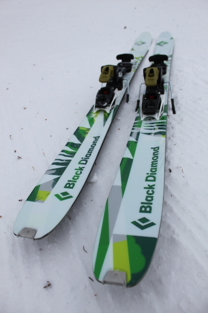 b4620593fb Black Diamond Revert and Carbon Megawatt skis at 2012 Outdoor ...