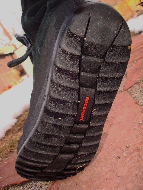 The soles of the Rockport Katrina provide ample traction on ice and snow.