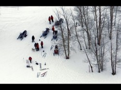 Rescue crews respond to a fatal avalanche in Dutch Draw in the Canyons backcountry. (Image: KSL 5)