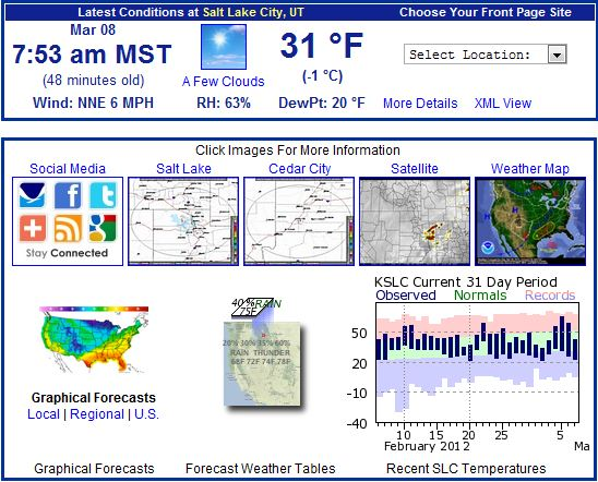 Where to get the latest conditions from the National Weather Service. (Image courtesy NWS)
