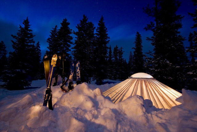 Winter at Westminster students Yurt camping in the Uinita ...