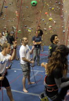 Climbers participate in a First Descents Climbing for Cancer event. (Image: First Descents)
