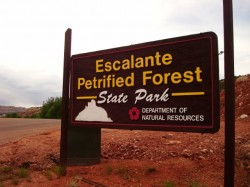 Entrance to the Escalante Petrified Forest State Park and campground. (Photo: Jared Hargrave - UtahOutside.com)