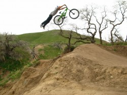 A freerider Supermans on a jump at the I Street bike park in Salt Lake City . (Photo: MarinBikes.com)