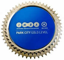 The IMBA Gold Level trophy awarded to Park City. (Image courtesy IMBA)