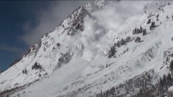 "Video still from Alta Ski Patroller Brett Korpela's ""On Fire."" (Image - Brett Korpela)"