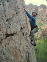 Callista Pearson climbing in the Wasatch, where access protection is always needed. (Photo: Jared Hargrave - UtahOutside.com)