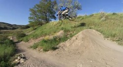 "Screen grab from the video ""Big Sick Mountain Bike"" featuring the I Street dirt jumps."