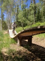 The wood bridges were some of the most impressive features at the new Canyons Bike Park. (Photo: Jared Hargrave - UtahOutside.com)