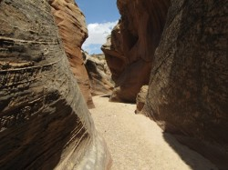 The canyon soon narrows to a fine section of slot. (Photo: Skip Whitman)