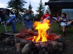 Sitting around the campfire is the best part of camping at Big Flat in Utah's Tushar Mountains. (Photo: Jared Hargrave - UtahOutside.com)