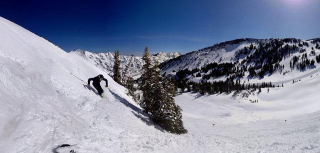 Justin Lozier skis at Alta, one of the resorts included in the Mountain Collective Pass.(Photo: Jared Hargrave - UtahOutside.com)