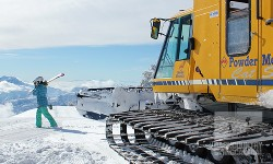 Backcountry access is good at Powder Mountain if you hitch a snowcat ride. (Image: Backcountry Skiing Canada)