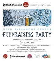 You know the 19th Annual Utah Avalanche Fundraising Party at the Black Diamond Store will be awesome when the invite shows Old Man Winter blowing head off a cold mug of craft brew! (Image courtesy UAC)