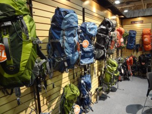 High Sierra is serious about backpacks at Outdoor Retailer 2012 Summer Market, the wall doesn't lie! (Photo: Ryan Malavolta - UtahOutside.com)