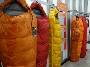 A sneak peak at the 2013 sleeping bag lineup from Kelty. (Photo: Ryan Malavolta - UtahOutside.com)