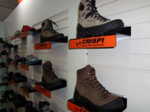 Just a tiny taste of Crispi's huge boot selection at Outdoor Retailer 2012 Summer Market. (Photo: Ryan Malavolta - UtahOutside.com)
